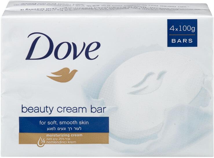 DOVE |דאב אל סבון מוצק מכיל 25% לחותתמונה של