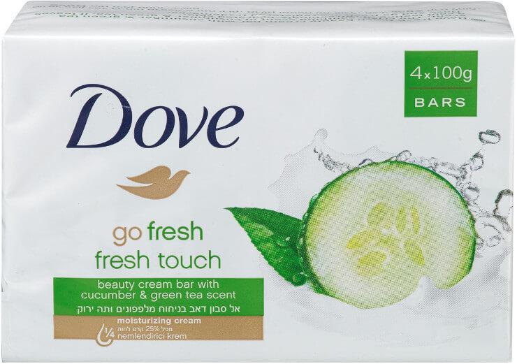 DOVE |דאב אל סבון מוצק מכיל 25% לחות בניחוח מלפפונים ותה ירוקתמונה של