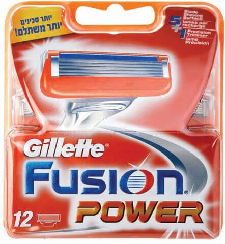 ג'ילט פיוז'ן פאואר - 12 סכיני גילוח רב פעמייםתמונה של