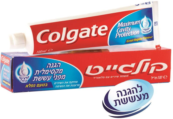 קולגייט משחת שיניים קולגייט אדומהתמונה של