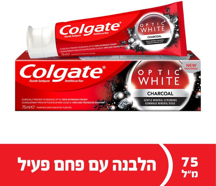 קולגייט משחת שיניים אופטיק וויט פחםתמונה של