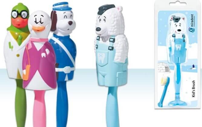 Miradent | מברשת שיניים מירדנט לילדים עם כיסוי מגן בצורת חיהתמונה של