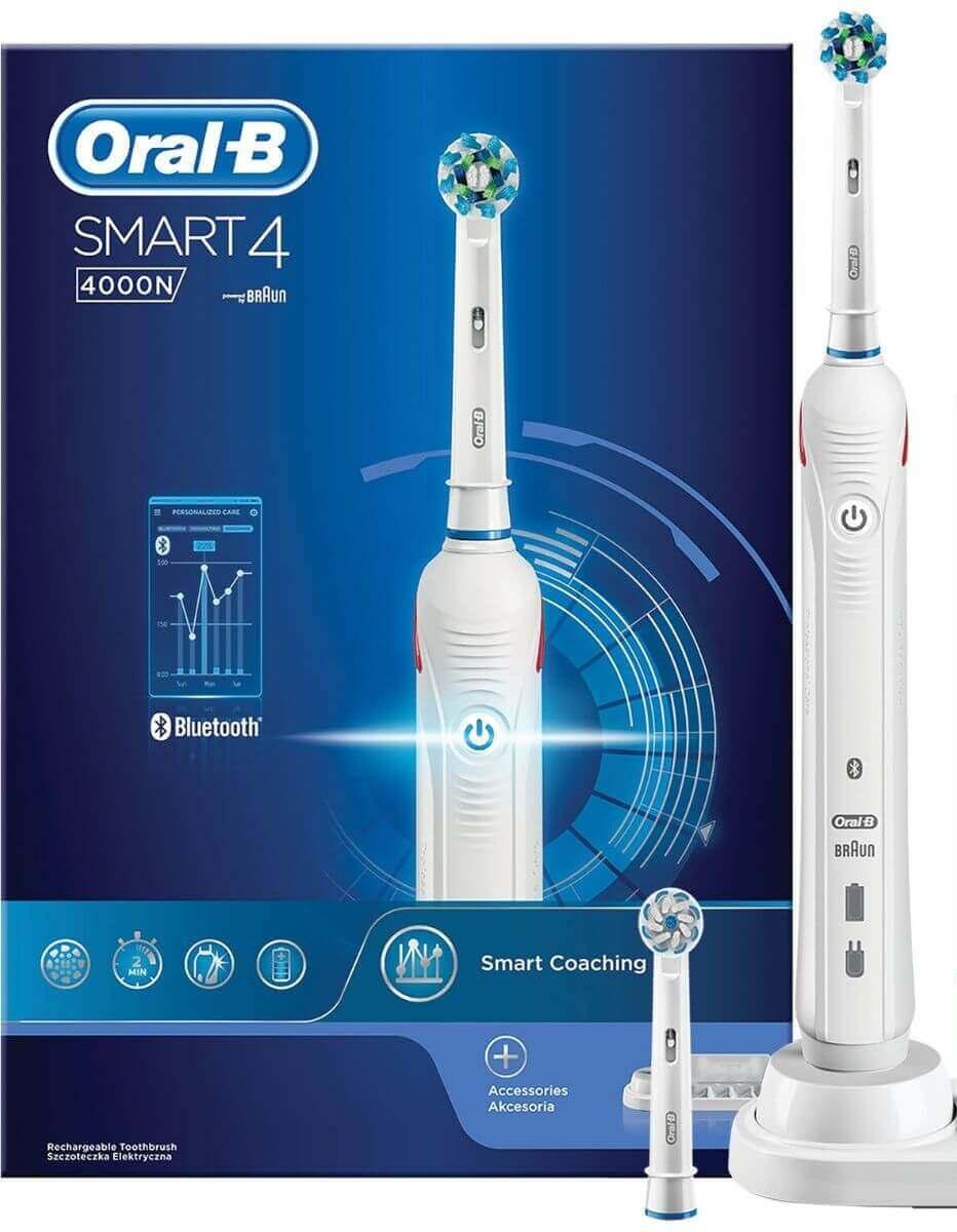 Oral B 4000N Smart 4 | מברשת חשמלית נטענת אורל בי 4000 תמונה של