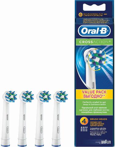 Oral B | ראשים למברשת שיניים חשמלית Oral-B Cross Action - 4 יחידותתמונה של