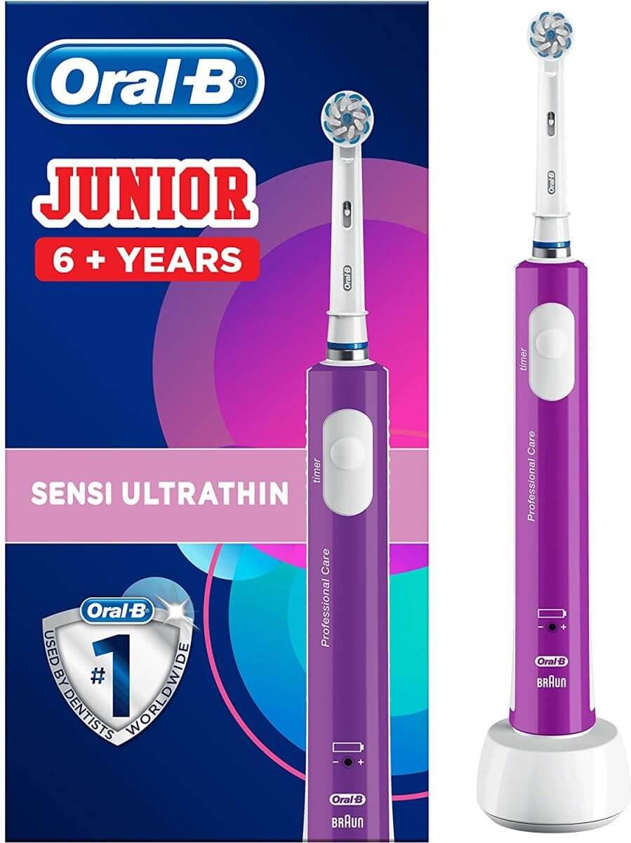 Oral B JUNIOR | JUNIOR אורל בי מברשת שיניים חשמלית לגילאי 6+ תמונה של