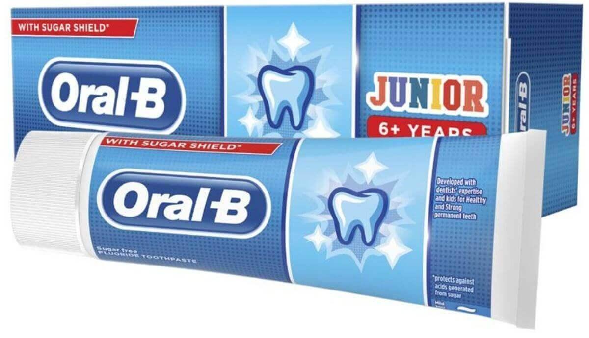 אורל בי ג'וניור משחת שיניים לילדים +6 שניםתמונה של