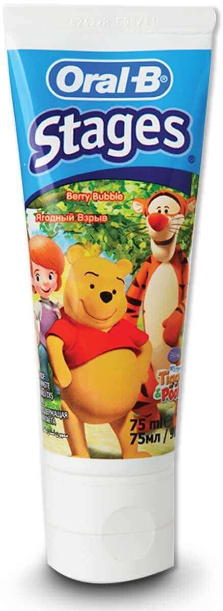 אורל בי משחת שיניים לילדים בטעם פירות לגילאים 2-6תמונה של