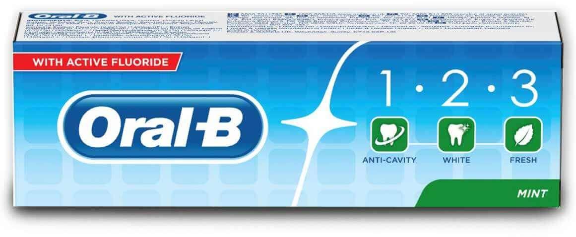 אורל בי 123 משחת שיניים מרעננת עם פלואוריד - 100 MLתמונה של