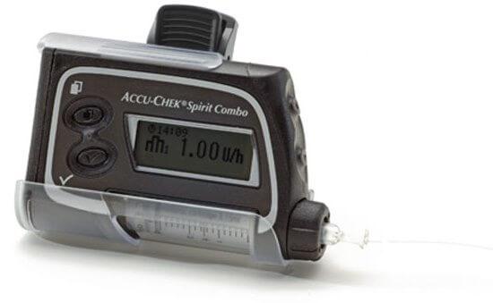 מנשא עשוי פלסטיק למשאבת אינסולין Accu-Chekתמונה של