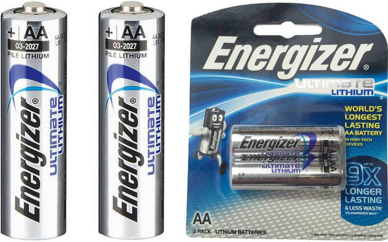 אנרג'ייזר | 2 סוללות AA ליתיום Energizerתמונה של