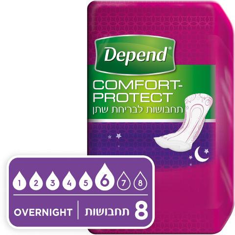 דיפנד Comfort-protect תחבושות לבריחת שתן בלילהתמונה של