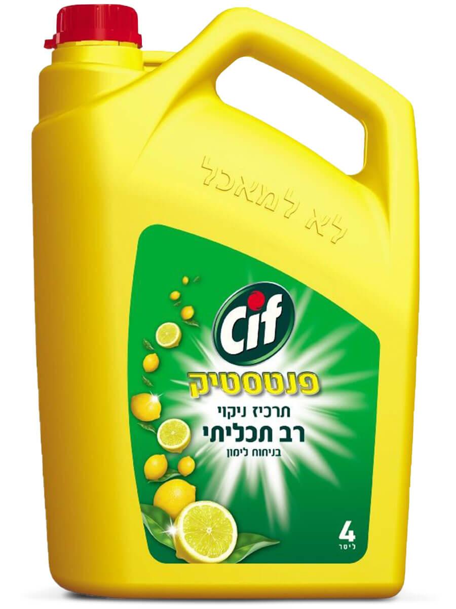 CIF | סיף תרכיז ניקוי כללי רב תכליתי בניחוח לימון 4 ליטרתמונה של