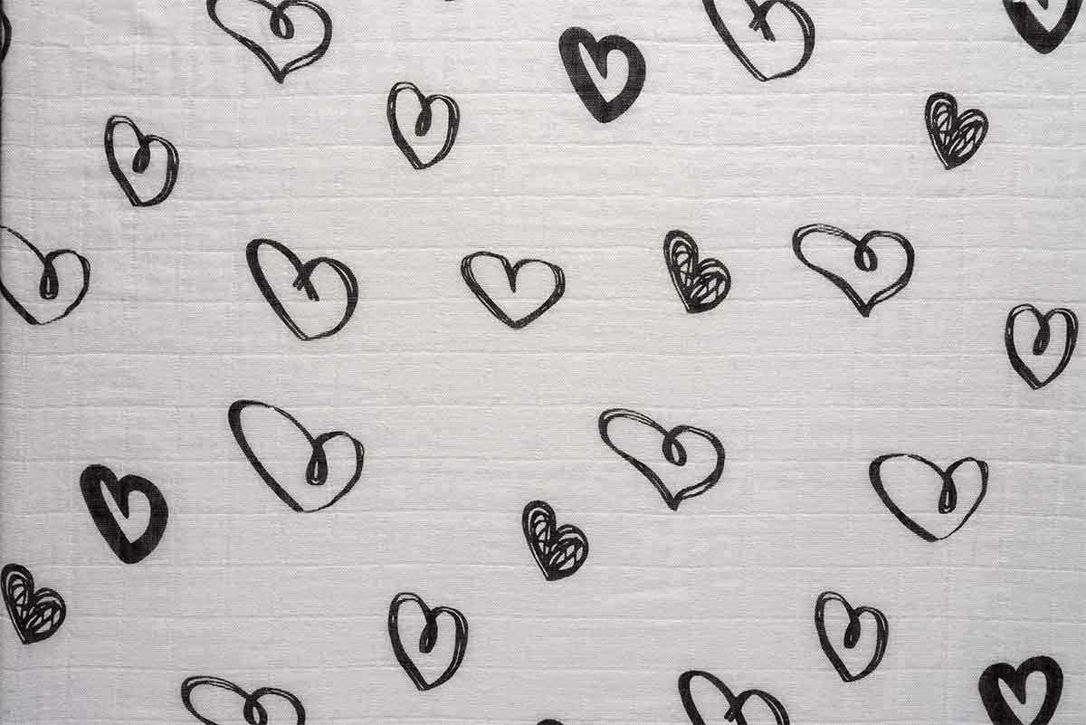 NEVO חיתול טטרה במבוק גדול במיוחד - עיצוב לבבותתמונה של