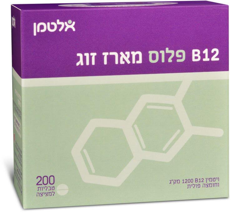 אלטמן |ויטמין B-12 פלוס - מארז חיסכון (200)תמונה של