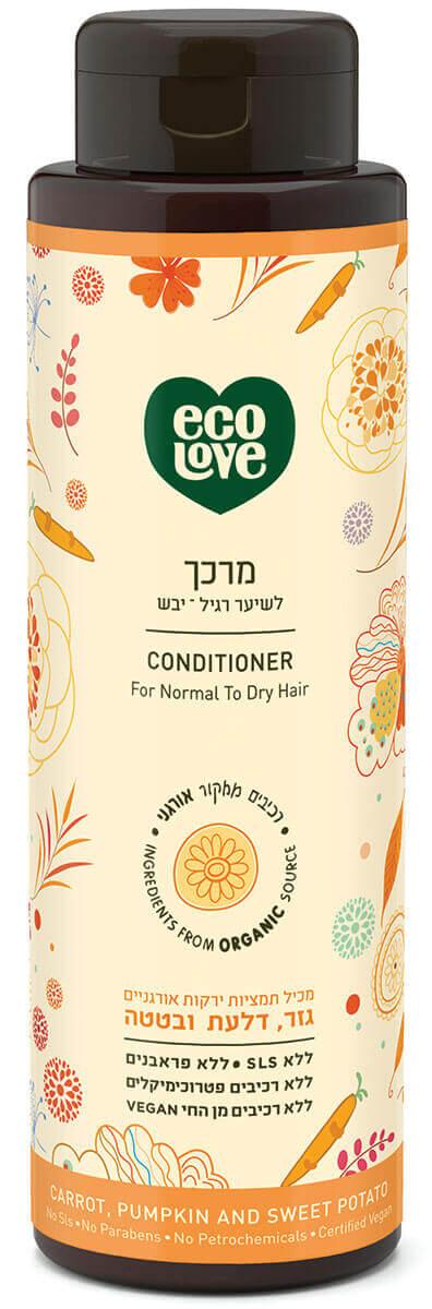 אקו לאב מרכך לשיער רגיל – יבש, ירקות כתומים - 500 מל ecoloveתמונה של