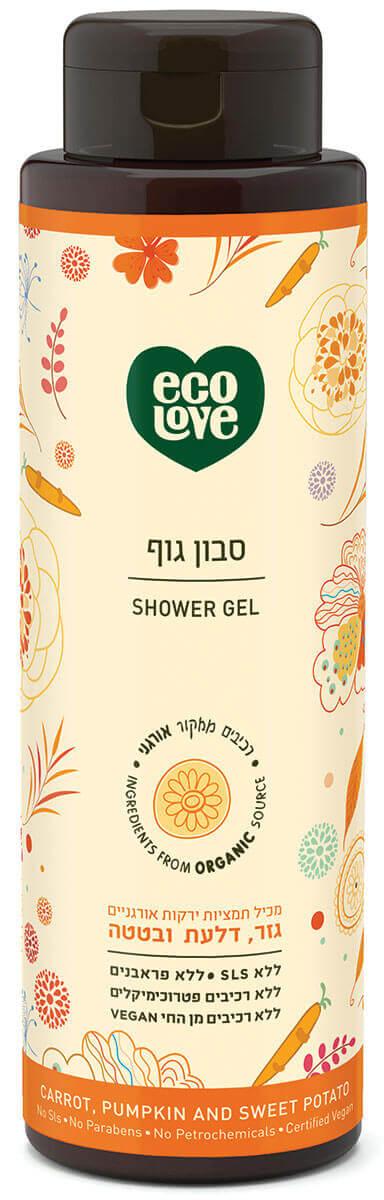 אקו לאב | סבון גוף, ירקות כתומים - 500 מל ecoloveתמונה של