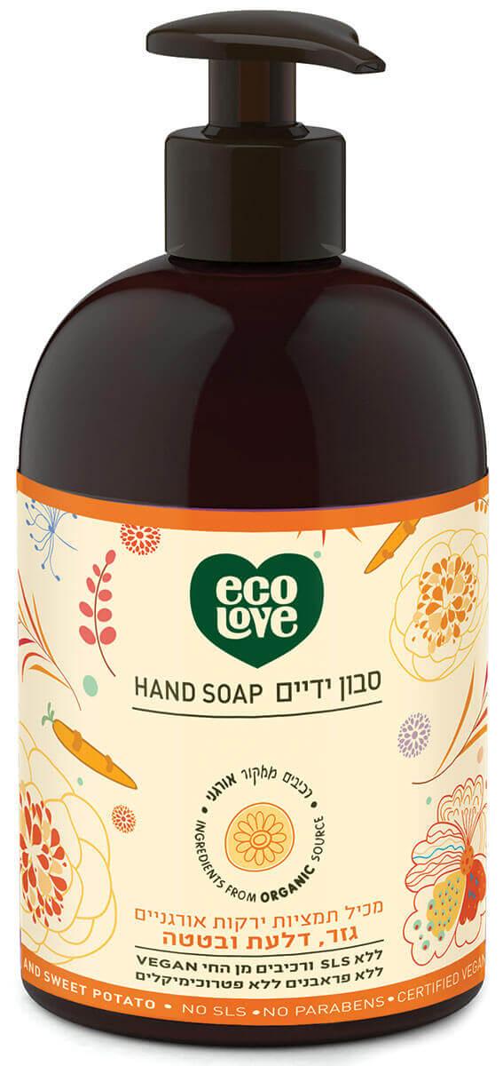 אקו לאב | סבון ידיים, ירקות כתומים - 500 מל ecoloveתמונה של