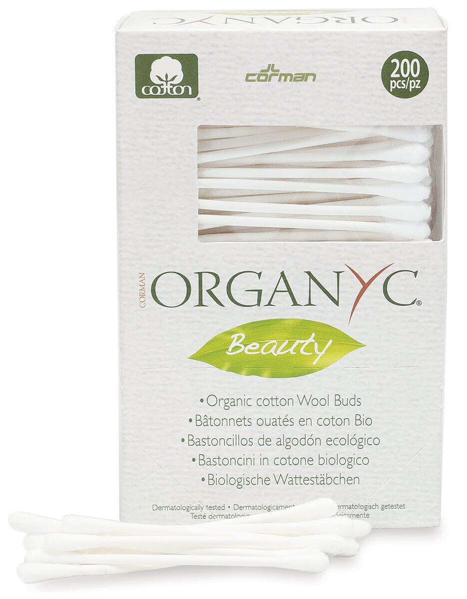 Organ(y)c | צמרוני אזניים מכותנה אורגנית - 200 יחידותתמונה של